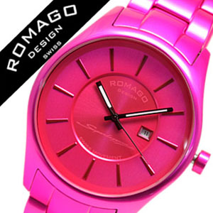 ロマゴ 時計 ROMAGO 時計 ロマゴ 腕時計 ROMAGO 腕時計 ロマゴデザイン ROMAGODESIGN ロマゴ デザイン ROMAGO DESIGN ロマゴ時計 ROMAGO時計 ロマゴ腕時計 ROMAGO腕時計 スーパーレジェーラ メンズ ピンク RM029-0290AL-PK 祝い ギフト