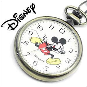 ディズニーミッキーマウスウォッチ懐中時計 [DisneyMickeymouseWatch時計](Disney Mickeymouse Watch 懐中時計 ディズニー ミッキー マウス ウォッチ 時計 ) 懐中時計 アイボリー A285-BR ディズニー ポケットウォッチ[ギフト バーゲン プレゼント ご褒美]