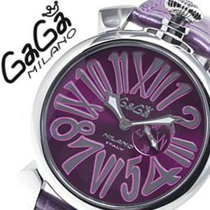 【お一人様1点限り!!再入荷なし】ガガミラノ GaGaMILANO ガガミラノ 腕時計 GaGaMILANO 腕時計 ガガ ミラノ GaGa MILANO ガガミラノ 時計 ガガ腕時計 スリム MANUALE 46MM SLIM パープル メンズ レディース 5084.5 新作 人気 プレゼント ギフト 送料無料