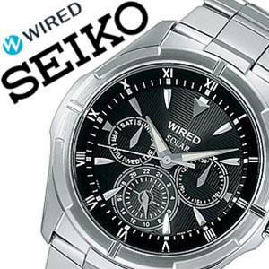 セイコー腕時計 [SEIKO時計](SEIKO 腕時計 セイコー 時計 ) ワイアード ニュースタンダード (WIRED NEW STANDARD ) メンズ腕時計 ブラック AGAD032 [スタンダード 使いやすい お洒落 安心][ギフト バーゲン プレゼント 新春初売][おしゃれ 腕時計]