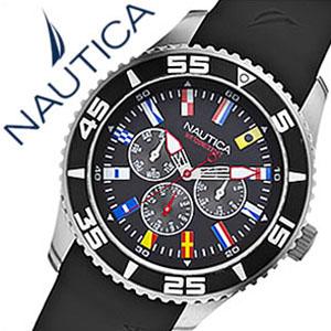ノーティカ腕時計 NAUTICA時計 NAUTICA 腕時計 ノーティカ 時計 フラッグ スポーツ アクティブ NST07 SPORT ACTIVE メンズ ブラック ホワイト A12626G [アナログ ギフト バーゲン プレゼント ご褒美][おしゃれ 腕時計]