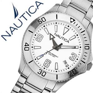 ノーティカ腕時計 NAUTICA時計 NAUTICA 腕時計 ノーティカ 時計 デイトM スポーツ アクティブ NAC102 SPORT ACTIVE レディース ホワイト A13504M [アナログ シルバー ][ギフト バーゲン プレゼント ご褒美][おしゃれ 腕時計]