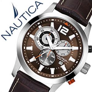 【5年保証対象】ノーティカ腕時計 NAUTICA時計 NAUTICA 腕時計 ノーティカ 時計 クラシック スポーティ ドレス NCS600 CLASSIC SPORTY DRESS メンズ ブラウン ホワイト A15548G アナログ おしゃれ 通販 アメリカン ブランド 送料無料