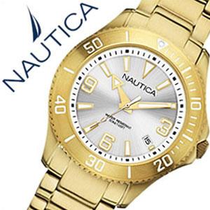 【5年保証対象】ノーティカ腕時計 NAUTICA時計 NAUTICA 腕時計 ノーティカ 時計 デイトM スポーツ アクティブ NAC102 SPORT ACTIVE レディース シルバー A15639M アナログ ゴールド おしゃれ 通販 アメリカン ブランド 送料無料