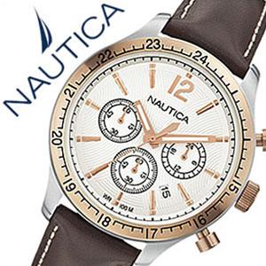 [当日出荷] 【5年保証対象】ノーティカ腕時計 NAUTICA時計 NAUTICA 腕時計 ノーティカ 時計 スポーツクロノクラシック クラシック スポーティ カジュアル BFD104 CLASSIC SPORTY CASUAL メンズ ホワイト A17638G アナログ ブラウン おしゃれ アメリカン ブランド 送料無料