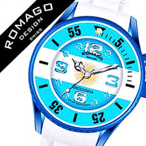 【11,000円引き】 ロマゴ 時計 ROMAGO 時計 ロマゴ 腕時計 ROMAGO 腕時計 ロマゴデザイン ROMAGODESIGN ロマゴ デザイン ROMAGO DESIGN ロマゴ時計 ROMAGO時計 アルゼンチン メンズ レディース ブルー イエロー RM043-0412PL-AR 国旗 アルビセレステス メッシ