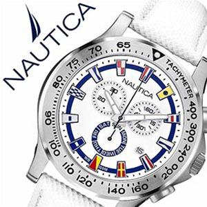 【5年保証対象】ノーティカ腕時計 NAUTICA時計 NAUTICA 腕時計 ノーティカ 時計 フラッグ NST600 CHRONO FLAG メンズ ホワイト A19598G 正規品 人気 スポーティー ブランド 防水 送料無料 プレゼント ギフト 祝い