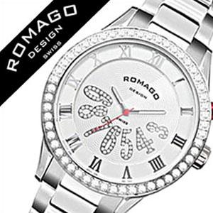ロマゴデザイン腕時計 ROMAGODESIGN時計 ROMAGO DESIGN 腕時計 ロマゴ デザイン 時計 ラグジュアリー シリーズ Luxury ホワイト RM019-0214SS-SVWH [ ラインストーン 白 シルバー ギフト バーゲン プレゼント ご褒美][おしゃれ 腕時計]