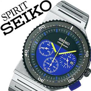 【5年保証対象】ジウジアーロ セイコー セイコースピリットジュージアーロデザイン腕時計 時計 SEIKO SPIRIT GIUGIARO DESIGN 腕時計 セイコー スピリット ジュージアーロ デザイン 時計 メンズ ブルー ブラック SCED021 クロノグラフ ブランド 限定 防水 送料無料