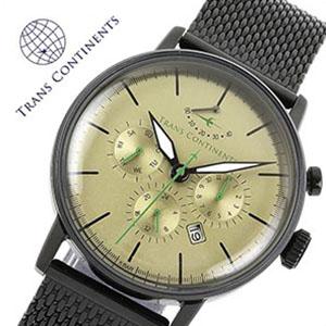 トランスコンチネンツ腕時計 TRANS CONTINENTS時計 TRANS CONTINENTS 腕時計 トランスコンチネンツ 時計 メンズ ゴールド TAQ-8802-07 [アナログ 限定 50本 MIYOTA9100 メタルバンド ブラック ゴールド 銀 黒 金][バーゲン プレゼント ギフト][おしゃれ 腕時計]