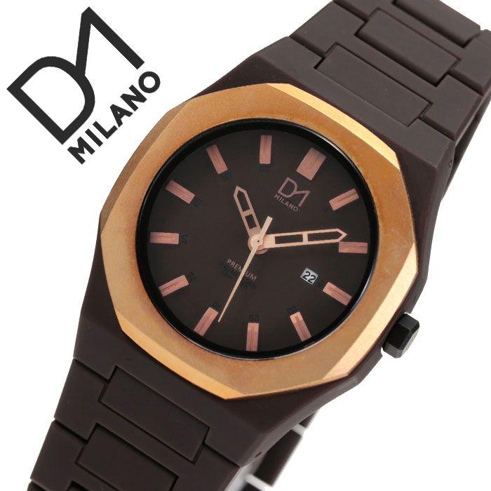 [当日出荷] D1 MILANO 時計 D1ミラノ 腕時計 D1MILANO時計 ディーワンミラノ時計 プレミアム PREMIUM メンズ レディース ブラウン PR01L [ 防水 人気 新作 男性 女性 イタリア ブランド ローズ ゴールド ピンクゴールド PR-01L おしゃれ プレゼント ギフト]
