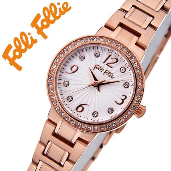 フォリフォリ腕時計 folli follie時計 folli follie 腕時計 フォリフォリ 時計 アリアウォッチ ARRIA WATCH レディース シルバーホワイト WF2B015BSS [アナログ 人気 セレブ ピンクゴールド かわいい ギフト バーゲン プレゼント ご褒美][おしゃれ]