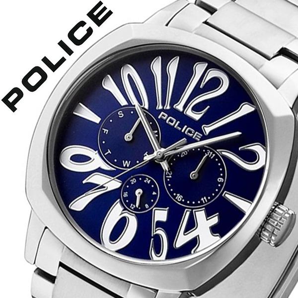 【13,750円引き】 ポリス 腕時計 POLICE 腕時計 ポリス 時計 POLICE 時計 ポリス腕時計 POLICE腕時計 ポリス時計 POLICE時計 トリノ TORINO メンズ ブルー 13200JS-03MA メタルベルト シルバー 銀 青 プレゼント ギフト