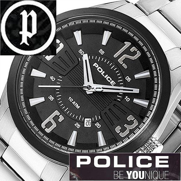 【11,550円引き】 ポリス 腕時計 POLICE 腕時計 ポリス 時計 POLICE 時計 ポリス腕時計 POLICE腕時計 ポリス時計 POLICE時計 メンフィス MEMPHIS メンズ ブラック 13893JSSB-02M メタルベルト シルバー 銀 黒 正規品 人気 新作