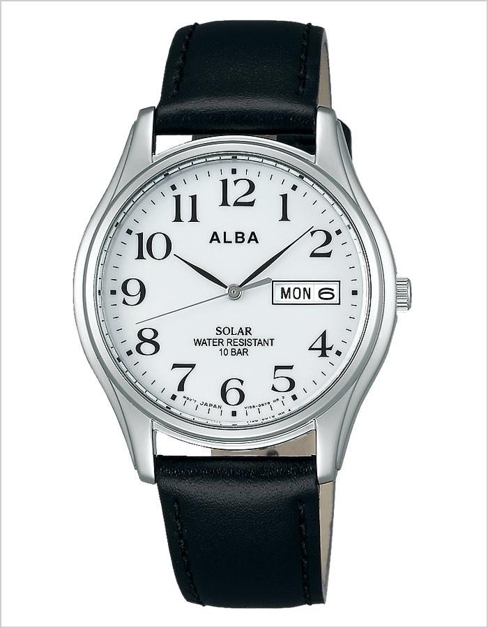 アルバ腕時計 ALBA時計 ALBA 腕時計 アルバ 時計 アンジェーヌ ingene メンズ ホワイト AEFD543 [アナログ ソーラー ペア モデル SEIKO セイコー ブラック シルバー 黒 銀 白 3針 V158][生活 防水][バーゲン プレゼント ギフト][おしゃれ]