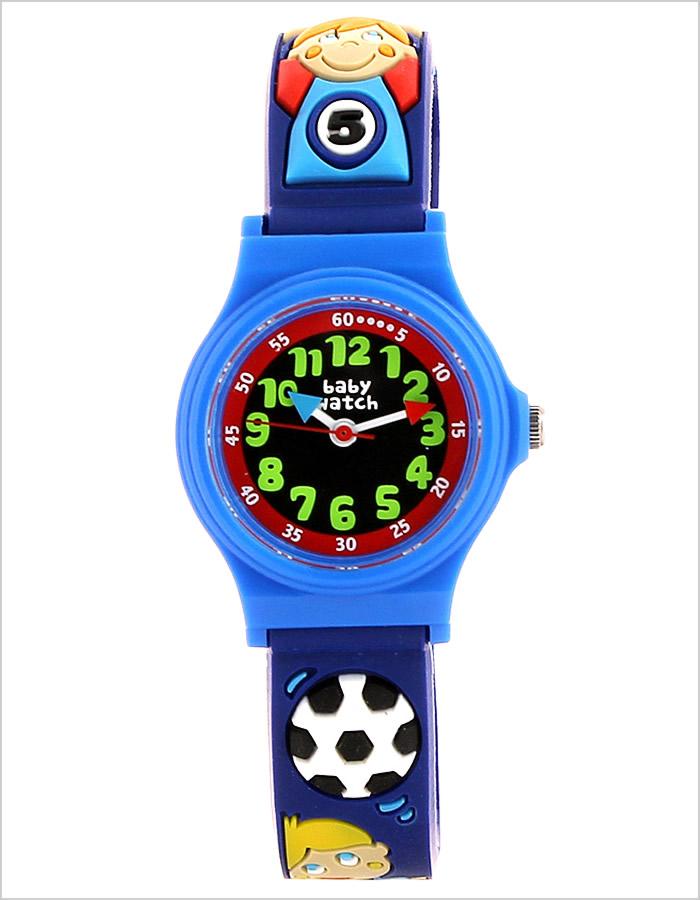 ベビーウォッチ腕時計 Baby Watch時計 Baby Watch 腕時計 ベビーウォッチ 時計 アベセデール サッカー男の子 キッズ 子供用 ブラック BW-AB006 アナログ 子供用腕時計 フランス パリ ブランド ピンク 桃 青 赤 3針 2倍 プレゼント 祝い