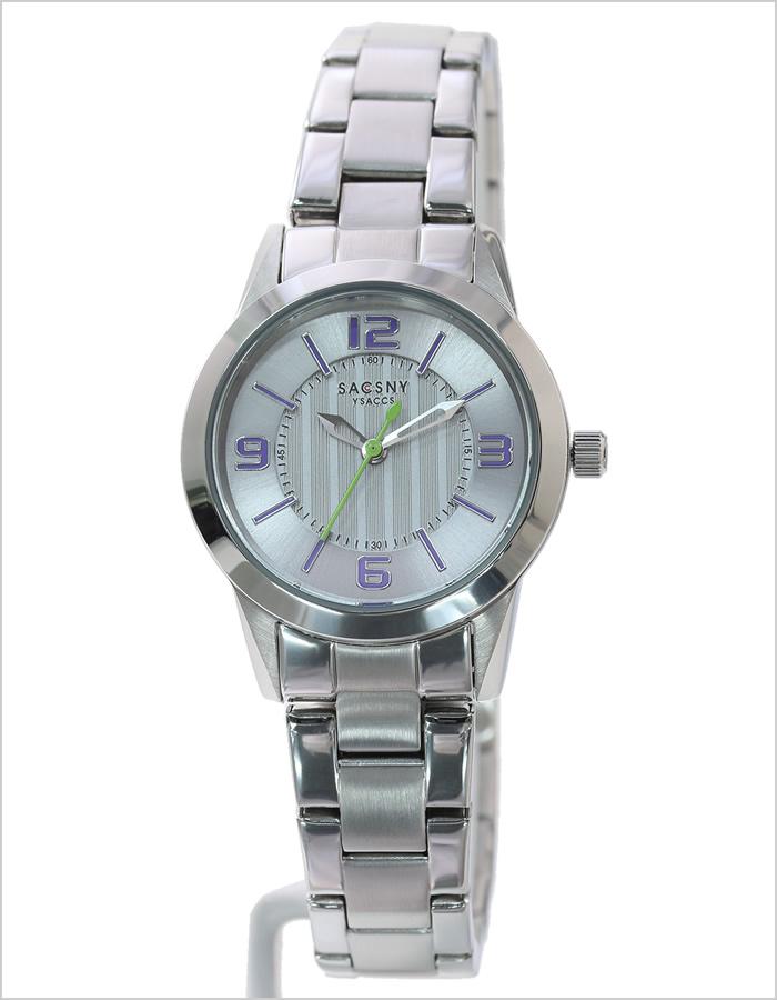 【おひとり様1点限り!!】サクスニーイザック腕時計 SACCSNYYSACCS時計 SACCSNY YSACCS 腕時計 サクスニー イザック 時計 レディース シルバー パープル SYA-15112-SI カジュアル ビジネス シンプル おしゃれ 人気 ペア 紫 シルバー 銀