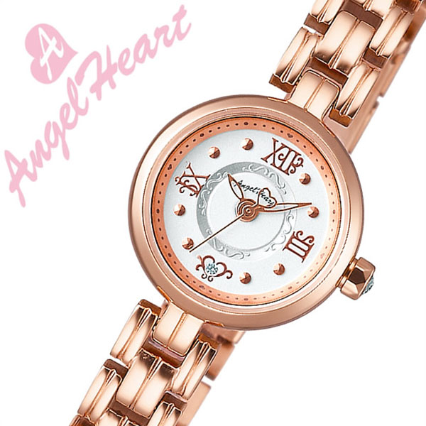 [当日出荷] 【5年保証対象】エンジェルハート 腕時計 AngelHeart 腕時計 エンジェル ハート 時計 Angel Heart 時計 AngelHeart腕時計 トゥウィンクルハート Twinkle Heart レディース ホワイト NT20PGR ピンクゴールド メタルベルト 送料無料