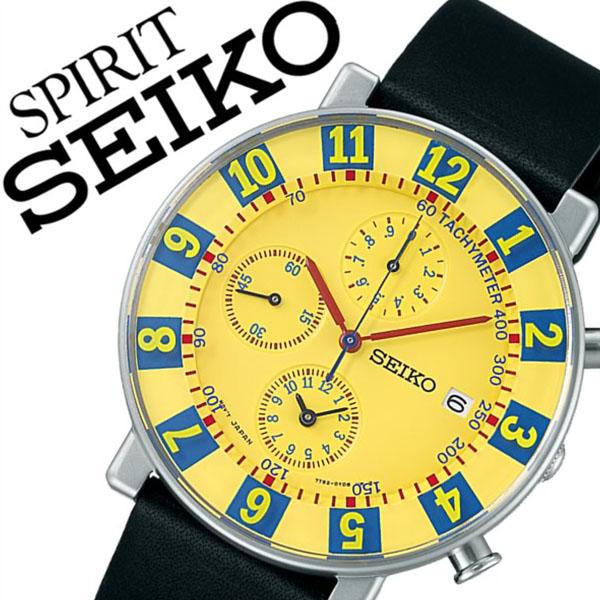 【5年保証対象】 信頼の国内正規品 セイコー腕時計 SEIKO時計 SEIKO 腕時計 セイコー 時計 スピリット スマート SPIRIT SMART メンズ イエロー SCEB019 アナログ クロノグラフ SEIKO×SOTTSASS コラボレーション モデル 限定 復刻版 7針 7T92 送料無料 02P05Nov16
