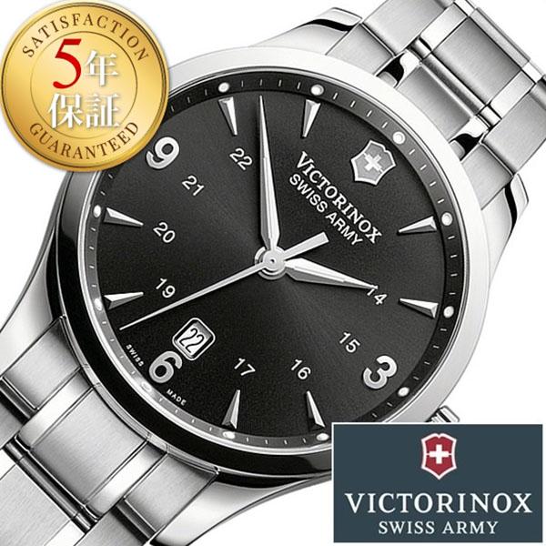 ビクトリノックス スイスアーミー 腕時計 ( VICTORINOX SWISSARMY 時計 ビクトリノックス スイスアーミー 時計 ) アライアンス ( ALLIANCE ) メンズ 腕時計 ブラック VIC-241473 [アナログ 男性用 メンズウォッチ メタルベルト シルバー 銀 黒 3針][バーゲン プレゼント]