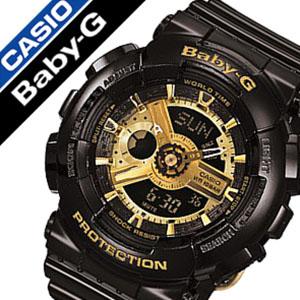 【1,630円引き】 カシオ腕時計 CASIO時計 CASIO 腕時計 カシオ 時計 ベイビーG BABY-G レディース ゴールド BA-110-1A アナデジ デジタル 液晶 防水 ブラック ベビーG