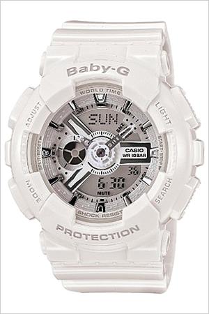 カシオ腕時計 CASIO時計 CASIO 腕時計 カシオ 時計 ベイビーG BABY-G レディース シルバー BA-110-7A3JF [アナデジ デジタル 液晶 防水 ホワイト ベビーG ギフト バーゲン プレゼント ご褒美][おしゃれ 腕時計]