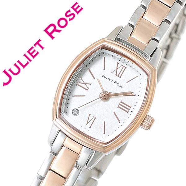 【5年保証対象】ジュリエット ローズ腕時計 JULIET ROSE時計 JULIET ROSE 腕時計 ジュリエット ローズ 時計 JULIETROSE ジュリエットローズ レディース シルバー JUL203PGS-01M おしゃれ 生活 防水 ピンク ゴールド ホワイト メタル ベルト クリスタル ストーン 送料無料