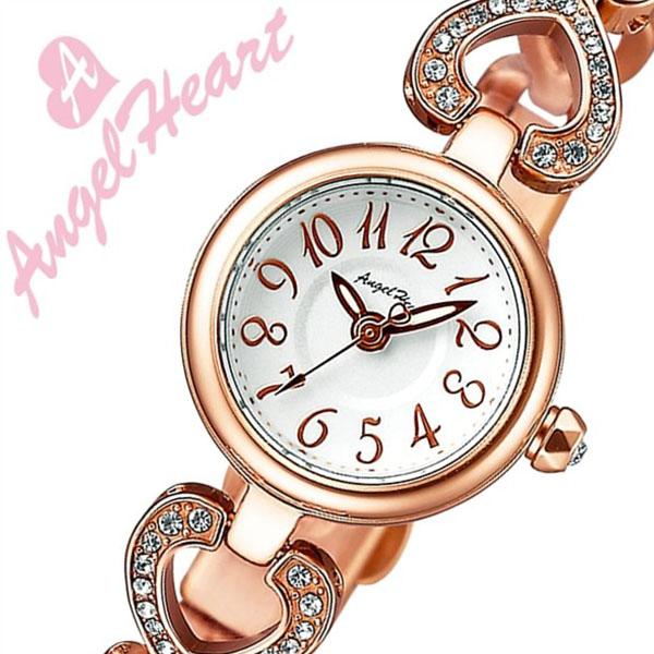 エンジェルハート腕時計 AngelHeart時計 エンジェルハート 時計 ピンキーハート Pinky Heart レディース シルバー PH19BRPG [アナログ クリスタル ストーン ローズ ピンク ゴールド ハート ブレス ウォッチ][バーゲン プレゼント ギフト][おしゃれ 腕時計]