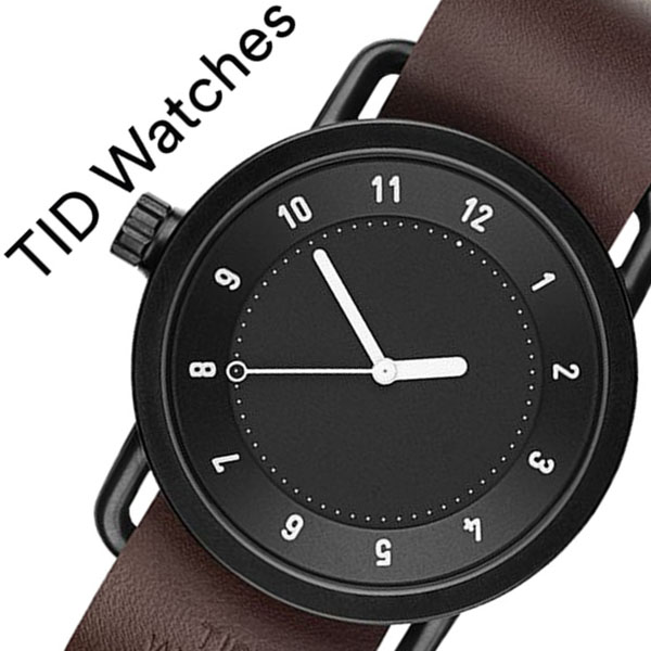 [ティッドウォッチズ]ティッドウォッチ 腕時計[TIDWatches 時計]ティッド ウォッチ 時計[TID Watches 腕時計] TIDNo. 1 TID01-BK-W [新作 ブランド 人気 革ベルト おしゃれ 防水 替え 北欧 ブラウン インスタ モデル 通販][プレゼント ギフト][おしゃれ腕時計]