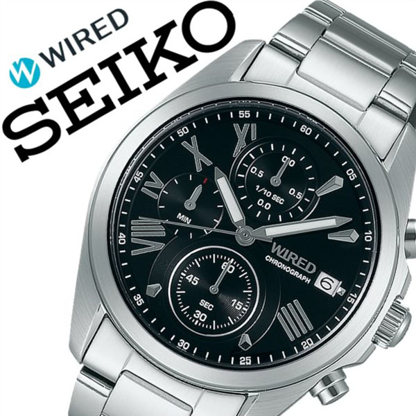 3b3386603b 【5年保証対象】ワイアード腕時計 WIRED時計 WIRED 腕時計 ワイアード 時計 メンズ ブラック
