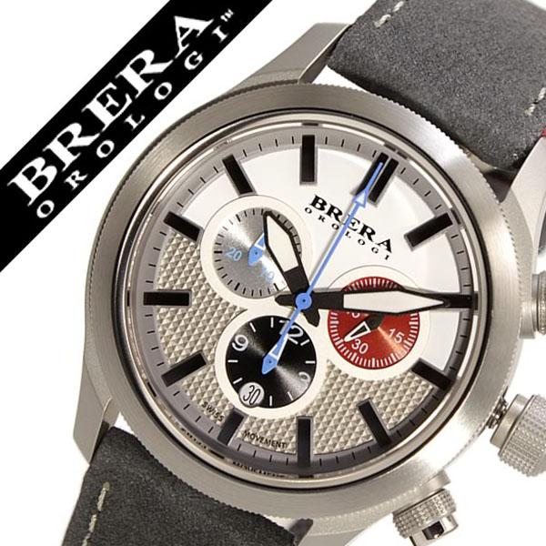 ブレラ 時計 BRERA 腕時計 ブレラオロロジ 腕時計 BRERAOROLOGI 時計 ブレラ オロロジ BRERA OROLOGI ブレラ時計 ブレラオロロジ腕時計 エテルノ クロノ Eterno Chrono メンズ ホワイト BRET3C4302 革ベルト クロノグラフ 防水 ブランド ブラック ブルー レッド 送料無料
