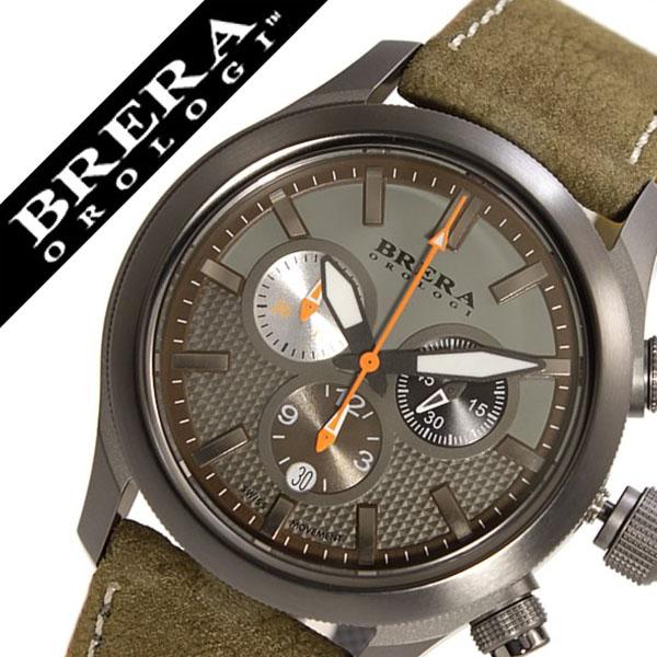 ブレラオロロジ 腕時計 Brera Orologi ブレラオロロジ腕時計 ブレラ オロロジ 時計[BRERAOROLOGI] BRERA腕時計 エテルノ クロノ Eterno メンズ グリーン BRET3C4304 [革ベルト クロノグラフ 防水 ブランド ブラック][バーゲン プレゼント ギフト]
