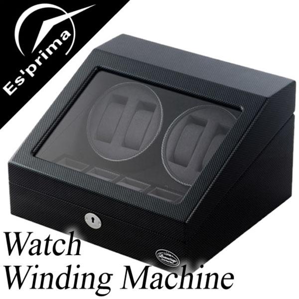自動巻き上げ機 自動巻き機 ワインディングマシーン 腕時計 時計 ワインディング マシン ウォッチ ワインダー ワインダー 時計ケース 腕時計ケース メンズ レディース LU-31004CB 4本巻き 4本 4連 機械式 自動巻き 自動巻 機械式腕時計 エスプリマ