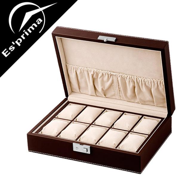 コレクションボックス 腕時計ケース Collection Box コレクションケース Collection case 時計ケース 時計 腕時計 メンズ レディース SP-80049LBR ディスプレイ ウォッチケース 収納ケース 10本収納 10本 木製 インテリア おしゃれ エスプリマ Esprima 人気 送料無料