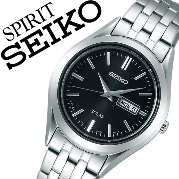 【5年保証対象】セイコー腕時計 SEIKO時計 SEIKO 腕時計 セイコー 時計 スピリット SPIRIT メンズ ブラック STPX031 メタル ベルト 正規品 ソーラー ペア モデル シルバー シンプル 送料無料