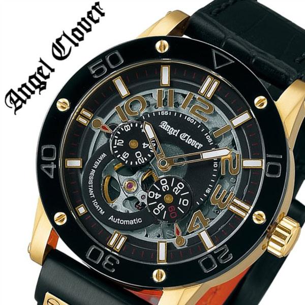 エンジェルクローバー 腕時計[AngelClover 時計]エンジェル クローバー 時計[Angel Clover 腕時計]エンジェルクローバー時計 エクスベンチャー EXVENTURE メンズ EVA43YBK-BK [革 ベルト 機械式 自動巻 メカニカル 防水 イエロー ゴールド][バーゲン プレゼント ギフト]