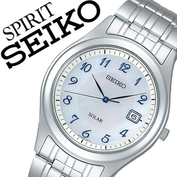 【5年保証対象】セイコー腕時計 SEIKO時計 SEIKO 腕時計 セイコー 時計 スピリット SPIRIT メンズ ホワイト SBPN059 メタル ベルト 正規品 ソーラー 限定 防水 シルバー 白蝶貝 ブルー 送料無料