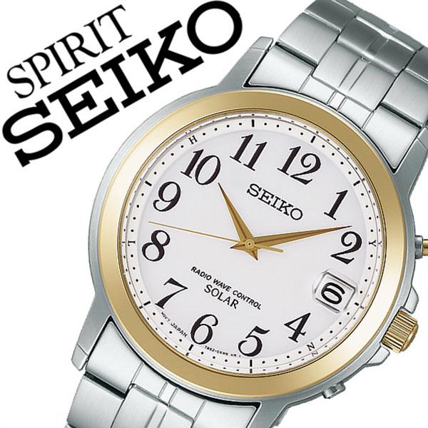 349d1c26e8 セイコー腕時計 SEIKO時計 SEIKO 腕時計 セイコー 時計 スピリット SPIRIT メンズ ホワイト SBTM164 [メタル ベルト