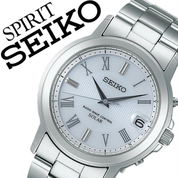 [当日出荷] 【5年保証対象】セイコー腕時計 SEIKO時計 SEIKO 腕時計 セイコー 時計 スピリット SPIRIT メンズ ホワイト SBTM189 メタル ベルト 正規品 ソーラー 電波 限定 防水 シルバー シンプル 送料無料