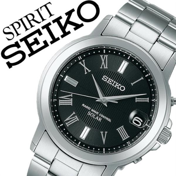 【5年保証対象】セイコー腕時計 SEIKO時計 SEIKO 腕時計 セイコー 時計 スピリット SPIRIT メンズ ブラック SBTM191 メタル ベルト 正規品 ソーラー 電波 限定 防水 シルバー シンプル 父の日 ギフト