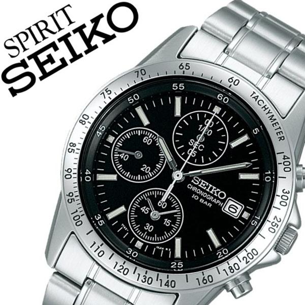 [当日出荷] 【5年保証対象】セイコー腕時計 SEIKO時計 SEIKO 腕時計 セイコー 時計 スピリット SPIRIT メンズ ブラック SBTQ041 メタル ベルト 正規品 クロノグラフ 限定 防水 シルバー シンプル 送料無料
