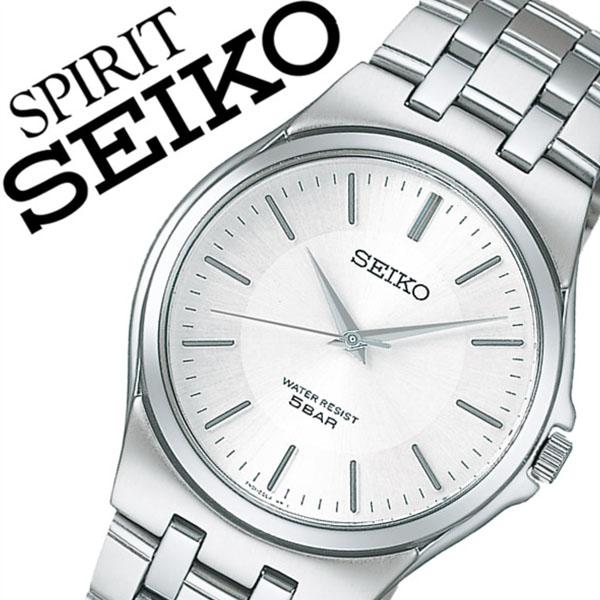 【5年保証対象】セイコー腕時計 SEIKO時計 SEIKO 腕時計 セイコー 時計 スピリット SPIRIT メンズ ホワイト SCXP021 メタル ベルト 正規品 限定 シルバー シンプル 送料無料
