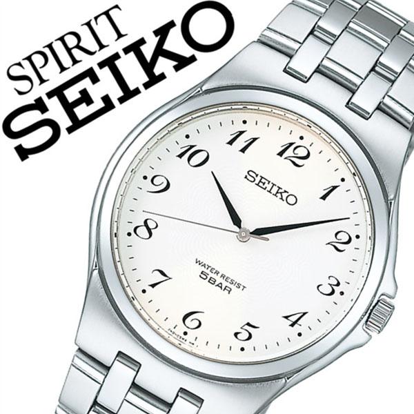 【5年保証対象】セイコー腕時計 SEIKO時計 SEIKO 腕時計 セイコー 時計 スピリット SPIRIT メンズ ホワイト SCXP027 メタル ベルト 正規品 限定 シルバー シンプル アラビア数字 文字盤 見やすい 父の日 ギフト