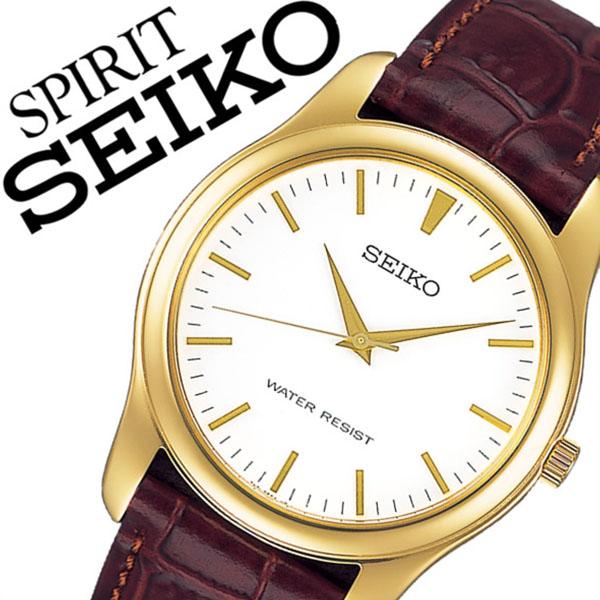 [当日出荷] 【5年保証対象】セイコー腕時計 SEIKO時計 SEIKO 腕時計 セイコー 時計 スピリット SPIRIT メンズ ホワイト SCXP032 革 ベルト 正規品 限定 防水 ブラウン イエロー ゴールド ペアモデル アンティーク