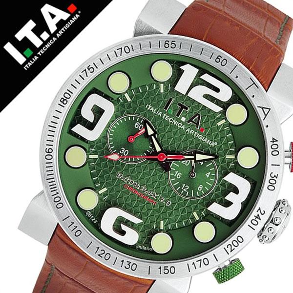 アイティーエー 腕時計 I.T.A. 腕時計 アイティーエー 時計 I.T.A. 時計[ITA] ITA腕時計 ITA時計 ビーコンパックス B.COMPAX 2 メンズ グリーン ITA-18-00-01 [革 ベルト クロノグラフ 正規品 イタリア ブランド ファッション ブラウン][バーゲン プレゼント ギフト]