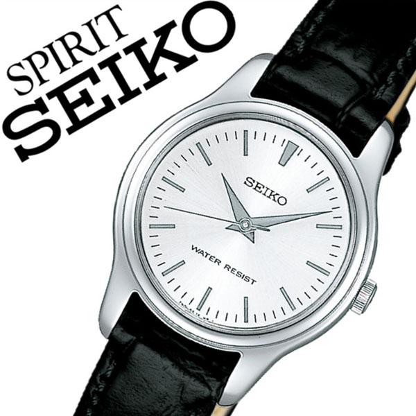 【5年保証対象】セイコー腕時計 SEIKO時計 SEIKO 腕時計 セイコー 時計 スピリット SPIRIT レディース シルバー SSXP001 革 ベルト 正規品 限定 防水 ブラック シンプル ペアモデル かわいい 送料無料
