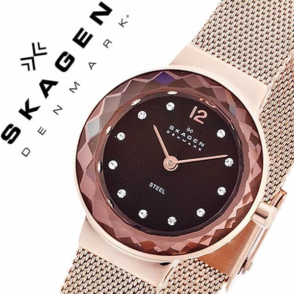 【1,630円引き】 スカーゲン SKAGEN 腕時計 スカーゲン 時計 SKAGEN 時計 スカーゲン 腕時計 レディース ブラウンパール 456SRR1 人気 新作 ブランド 防水 ステンレス ベルト ピンク ゴールド
