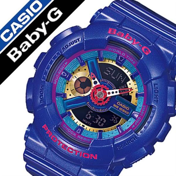 カシオ腕時計 CASIO時計 CASIO 腕時計 カシオ 時計 ベビー G Baby G ANA-DIGI レディース ブルー BA-112-2A [人気 ブランド 防水 ブルー アナデジ BABY-G ベイビー ジー][ギフト バーゲン プレゼント ご褒美][おしゃれ 腕時計]