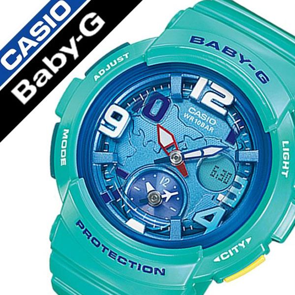 カシオ腕時計 CASIO時計 CASIO 腕時計 カシオ 時計 ベビー G Baby G ANA-DIGI レディース ブルー BGA-190-3B [人気 ブランド 防水 ブルー グリーン アナデジ BABY-G ベイビー ジー][ギフト バーゲン プレゼント ご褒美][おしゃれ 腕時計]