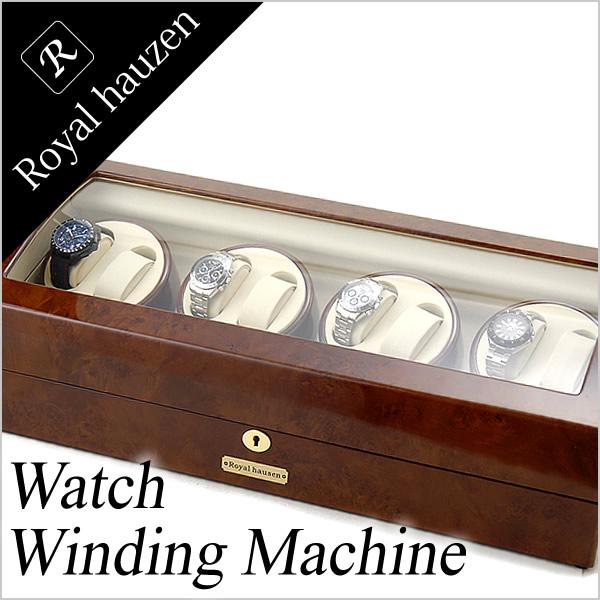 [当日出荷] ワインディングマシーン 自動巻き上げ機 ワインディングマシン 腕時計 時計 ワインディング マシン 自動巻き機 ウォッチワインダー ウォッチ ワインダー メンズ レディース GC03-Q31 自動巻き 自動巻 機械式 8本巻き 17本収納 4連 ブランド 高級 人気 送料無料